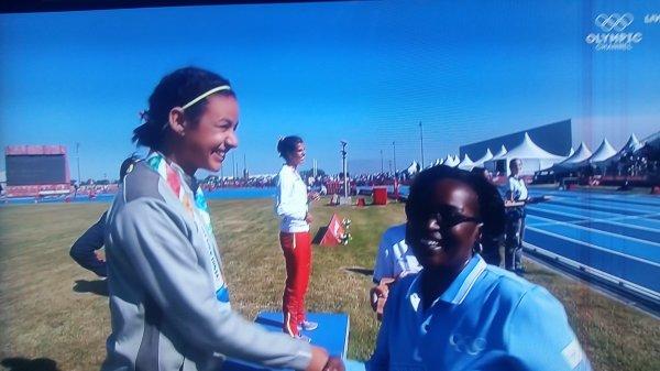 L'Algérienne Loubna BENHADJA médaillée d'Argent aux Jeux Olympiques de la Jeunesse 2018
