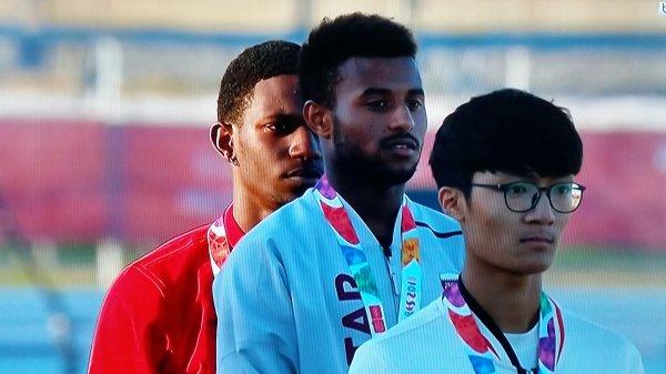 Awaab BARROW Olympic Youth Champion (110m/h) أواب برو بطل أولمبي للشباب في سباق 110م/ح