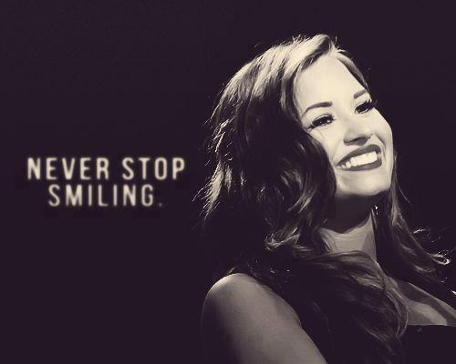 Ne t'arrête jamais de Sourire.