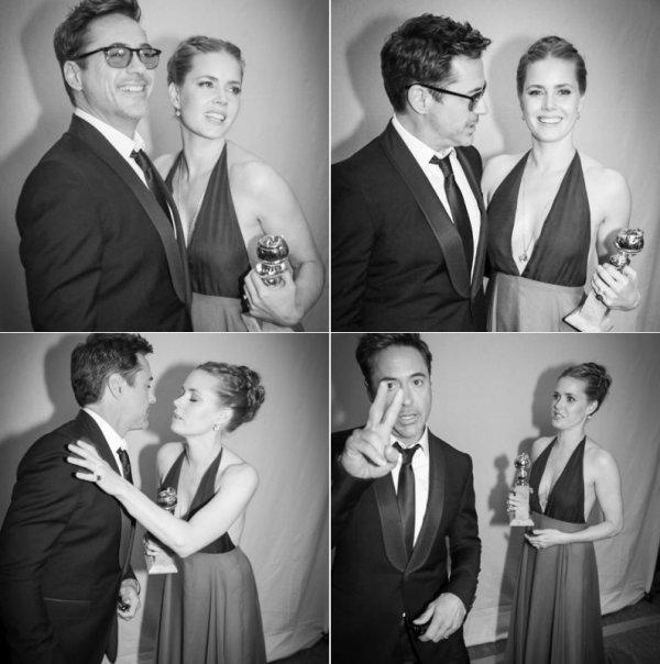 Robert Downey Jr & Rachel McAdams.