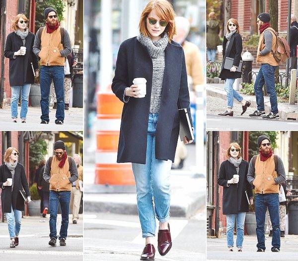 Bradley Cooper; Jeremy Renner & Emma Stone.
