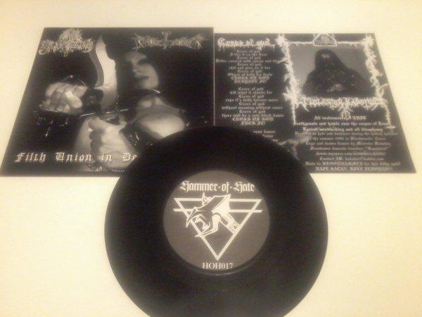 """Anal Blasphemy / Bloodhammer - Filth Union In Desecration [Split 7""""]"""