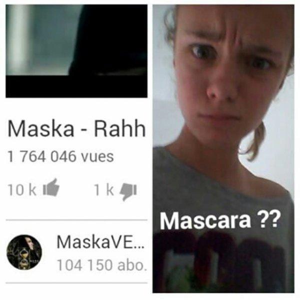 Maska et le mascara 😂