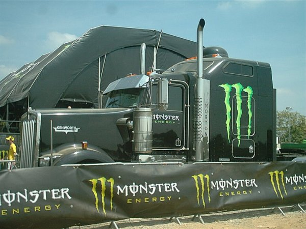 kenworth W900 monster energy