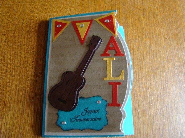 cartes pour l'anniversaire de Valérie et Ali