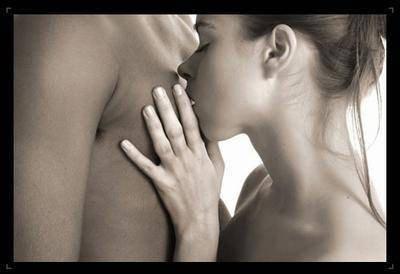 Sensualité d'un couple amoureux.