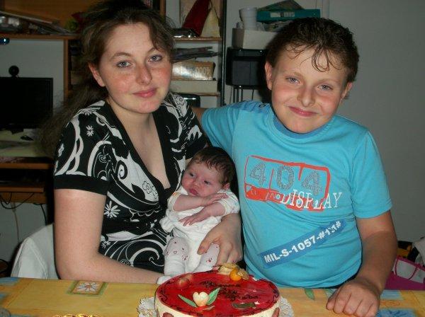moi ma fille chérie et mon petit frère