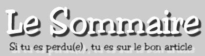 Le Sommaire :))