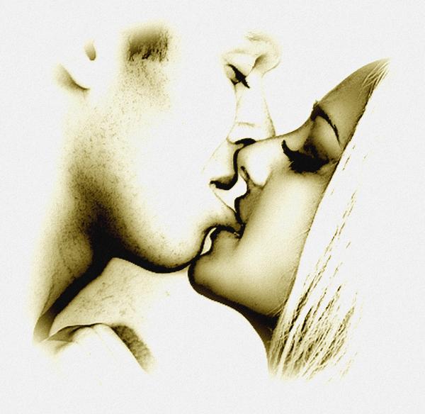 Comme l'amour est aveugle, il est très important de toucher.