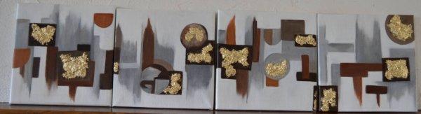 4 toiles  moderne (Triptic)