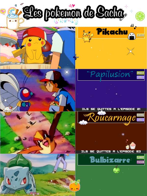 Les pokemon de Sacha