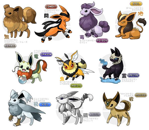 Pixel art pokemon famille evoli - Les mega evolution ...