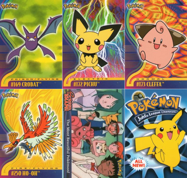GALERIE DES SERIES DE CARTES : 1999 Topps Pokemon TV Animation Edition Series 1 , Series 2, Series 3, 1999 Topps pokemon the first movie, Danone Pokemon Stadium, 2001 Pokemon Johto Série 1