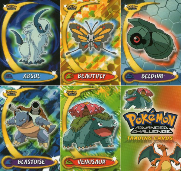 GALERIE DES SERIES DE CARTES : 2003 Topps Pokemon Advanced, 2004 Topps Pokemon Advanced Challenge,