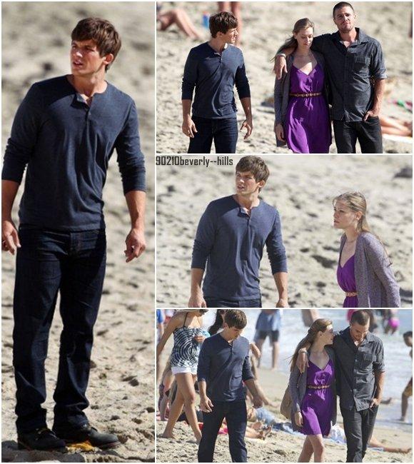 17 août 2011 || Jessica Stroup, Trevor Donovan et Matt Lanter se trouvaient sur les plages de LA pour le tournage de la saison 4 de 90210 ! Ces quelques images vous montrent donc que Silver & Teddy seront très proches dans cette saison également (: