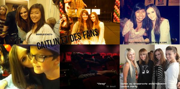 RATTRAPAGE DE NEWS (2) --- Des photos de Caitlin, avec des amis et fans sont apparus sur twitter, avec la traduction des tweets.