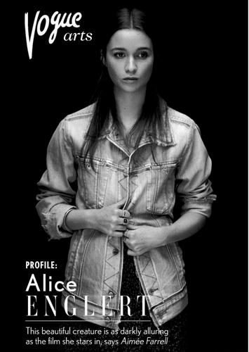 Un article sur Alice dans Vogue - Mars 2013 :