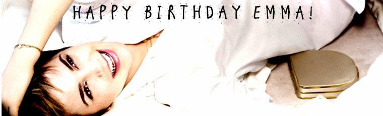 Joyeux anniversaire à Emma qui fête ses 22 ans !
