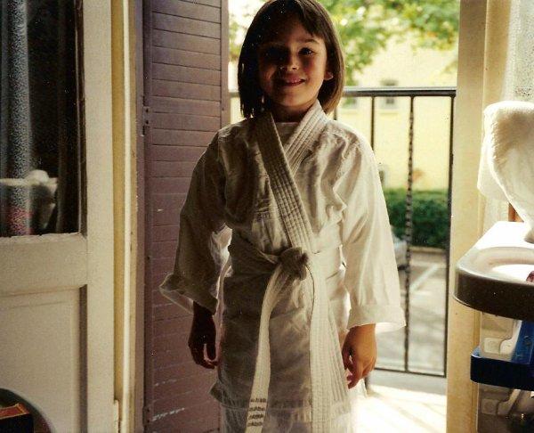 moi petite premier cour de judo <3