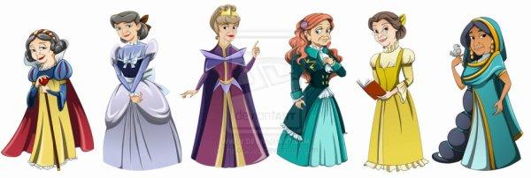 Qui aurait cru voir les princesses à cet âge là?