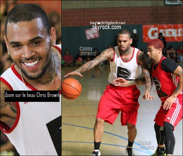 "07/09/13 : Chris Brown au match de basket caritatif ""Rock Life"",en Californie."