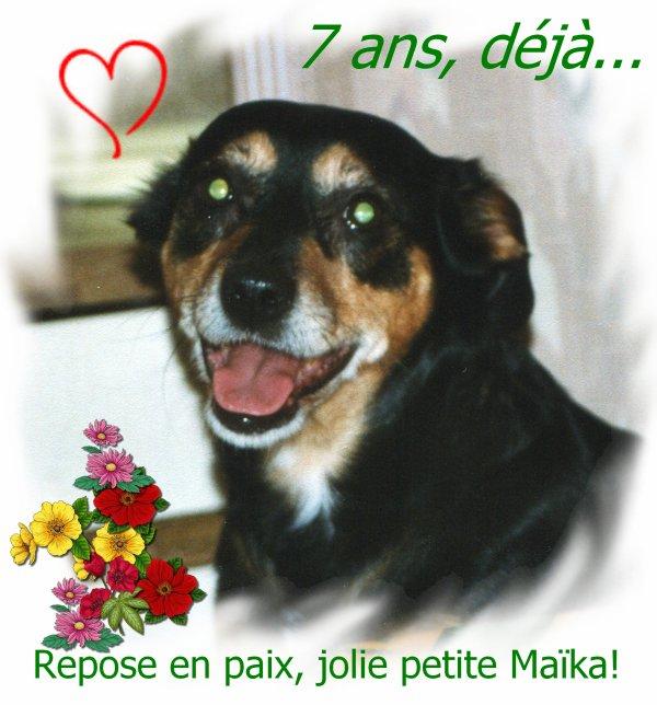 7 ans, déjà, petite Maïka...