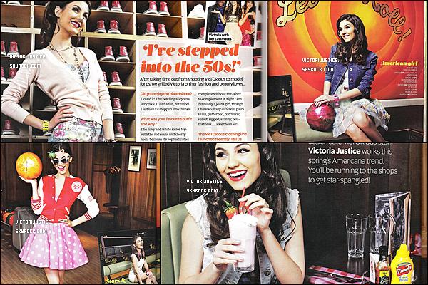 03/03/12 : Retrouve la belle Victoria Justice dans les scans de « Teen new magazine ».