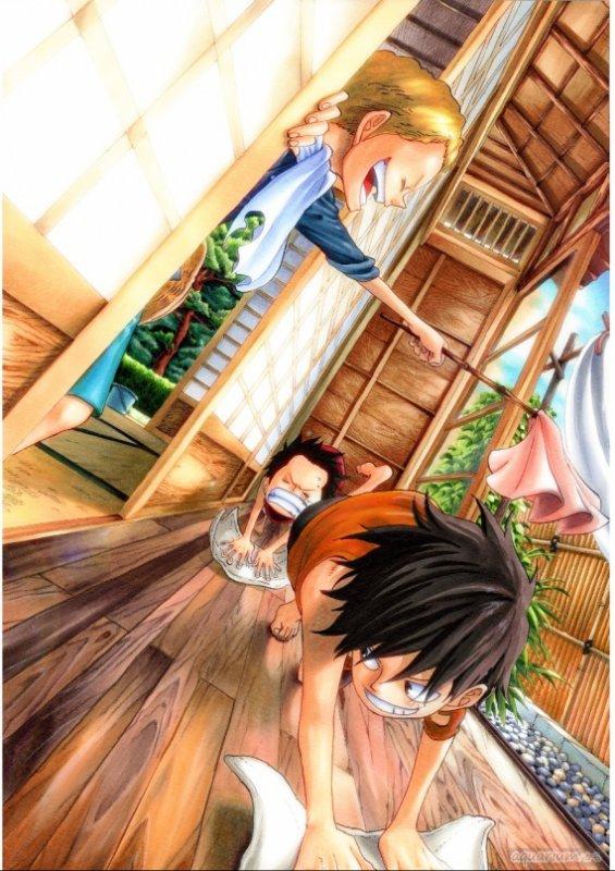 """"""" Tu m'avais promis que tu ne mourrais jamais Ace """" Hommage à Ace  ~ Luffy (2012)"""