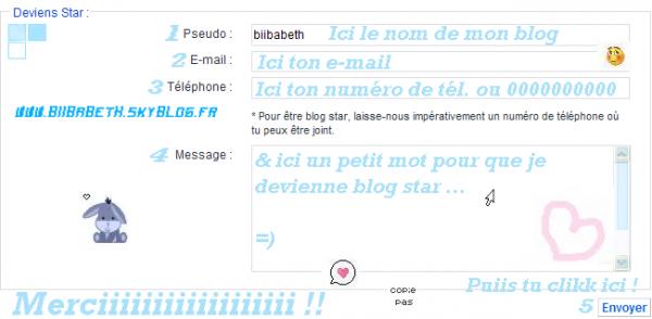 * Article 2o - Pour que BIIBABETH soiis blog star =) *
