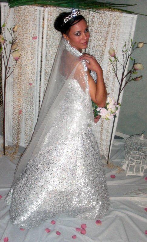 Location robe mariage femme voilee