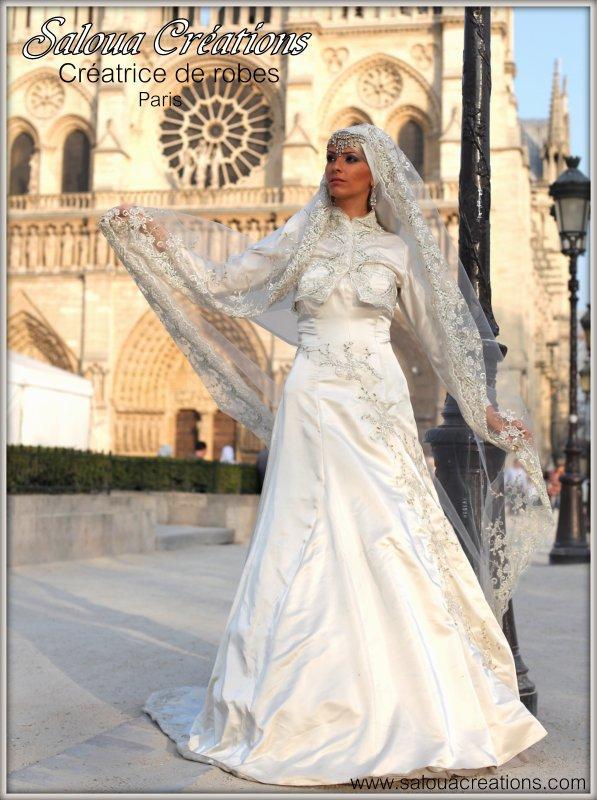 Robe de mariee hijab paris