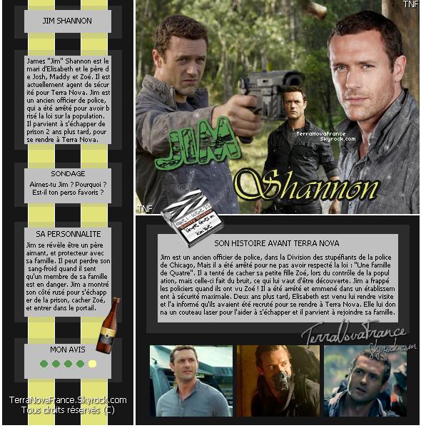 ╰☆╮...Le Casting ..TerraNovaFrance.skyrock.com...•••...Jason O'Mara alias Jim Shannon