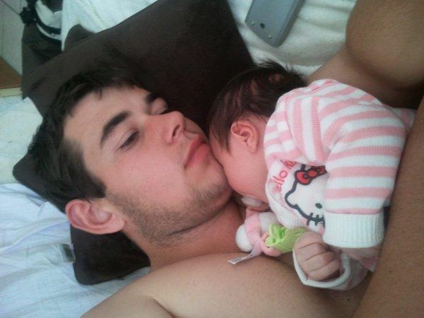 Moi et ma fille que j'aime