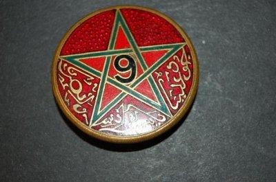Insigne 9° Régiment de Tirailleurs Marocains