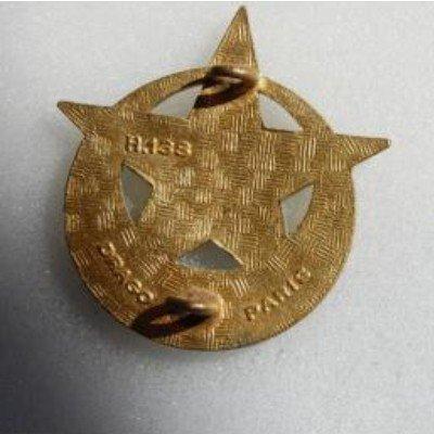 5° Rgt de Tirailleurs Marocains, émail, dos guilloché, anneaux