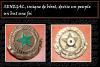 SENEGAL, insigne de béret, devise un peuple un but une foi