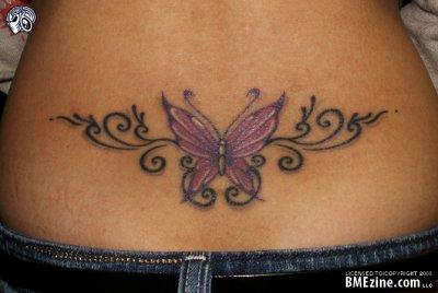 Bas Du Dos Tatouages Papillons