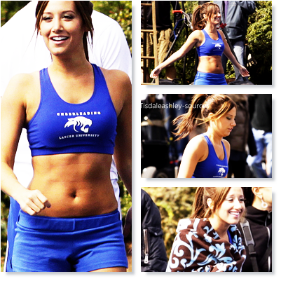 Ashley Sur Le Tournage De HellCats  ; 16/04/2010