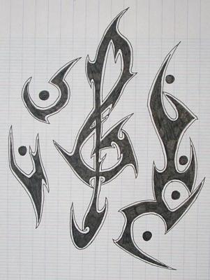 Dessin De Music tribal music ¤* - tribal design