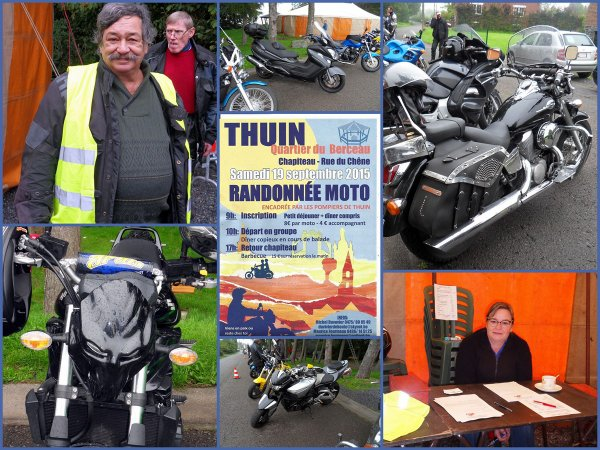 RANDONNEE MOTO A THUIN, CE SAMEDI 19/09/2015