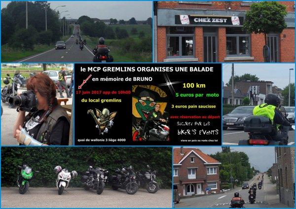 """BALADE MCP GREMELINS """"EN MEMOIRE DE BRUNO"""" 17/06/2017"""