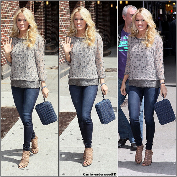 "30.04.12: Carrie arrivant au ""Late show with David Letterman"" à New-York"