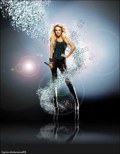 Photoshoot de Carrie pour le magazine Glamour du  moi de Juin