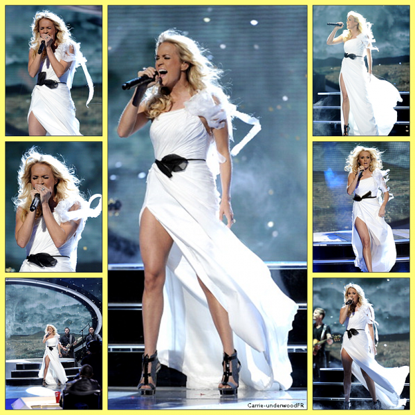 3.04.12: Carrie été sur le plateau d'American Idol pour chanter 'Blown away'.