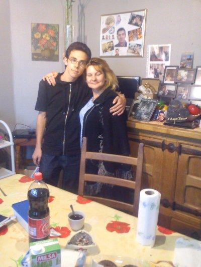 mon fils jean francois avec sa grande soeurette marie