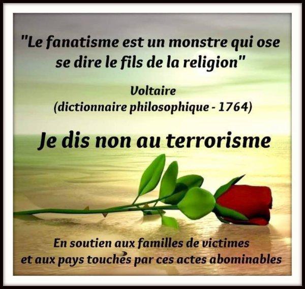 HOMMAGE A TOUTE CES VICTIMES DES TERRORISMES