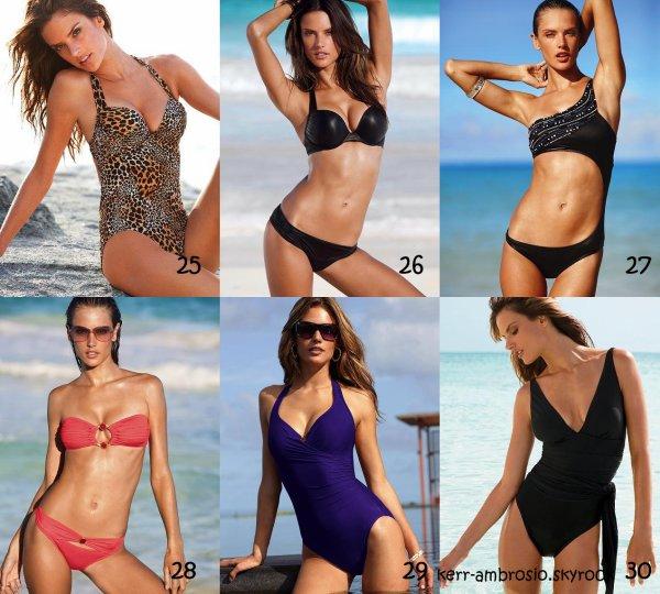 Alessandra Ambrosio magnifique en maillot pour Victoria's Secret. Lesquels préfères-tu ?