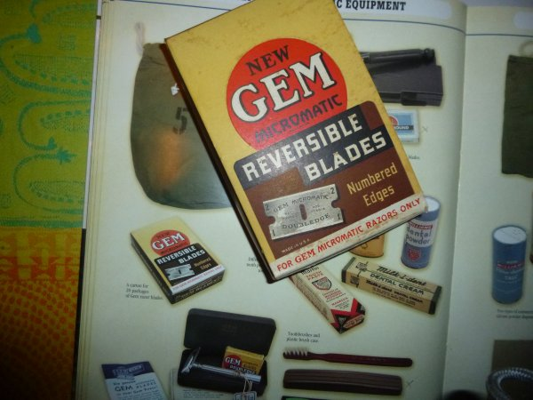 boite presentoir de lames de rasoir de la marque GEM ameriain