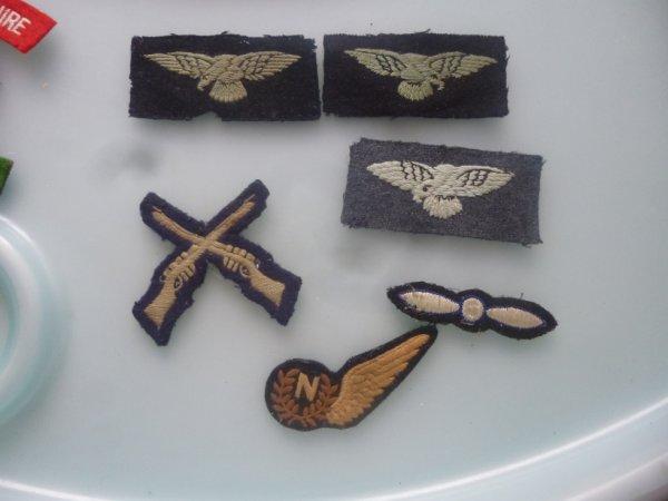 ensemble d insignes tissus RAF