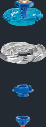 Les différents composants des toupies beyblade